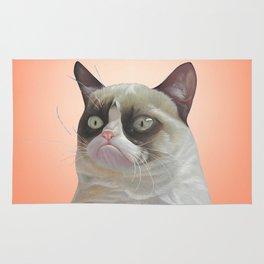 grumpy-cat-Orange Rug