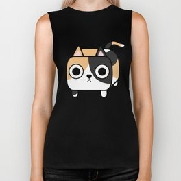 Cat Loaf - Calico Kitty Biker Tank