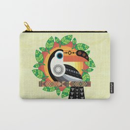 Geometric Toucan Carry-All Pouch