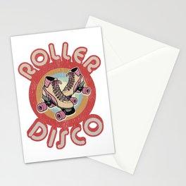 Roller Derby Roller Skates - Red & Pink Retro Stationery Cards