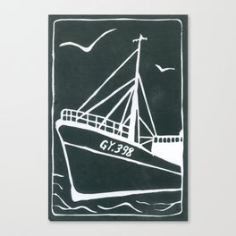 Ross Tiger in Grey Canvas Print