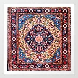 Kashan Central Persian Rug Print Art Print