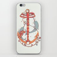 under the sea iPhone & iPod Skins featuring Under The Sea by Huebucket