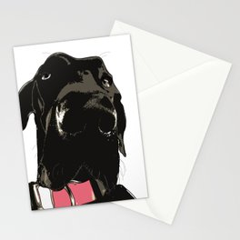 Black Great Dane Dog Stationery Cards