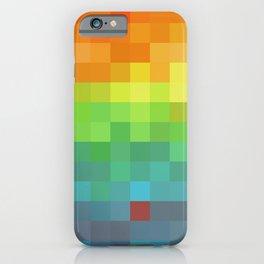 Pixel Rainbow iPhone Case