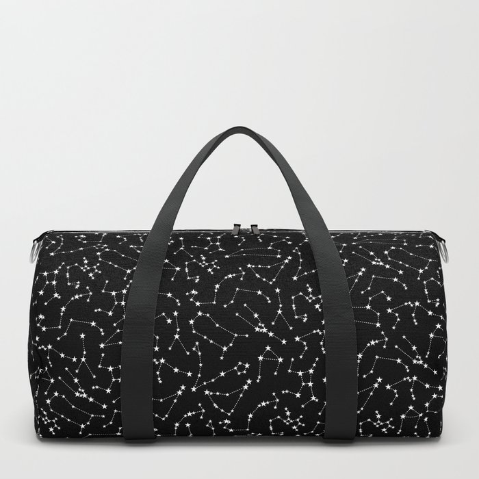 Zodiac Star Constellations Pattern Duffle Bag