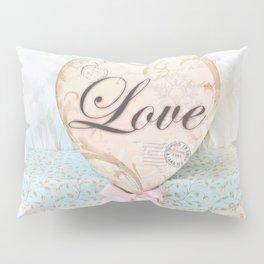 Love Heart Books Pillow Sham