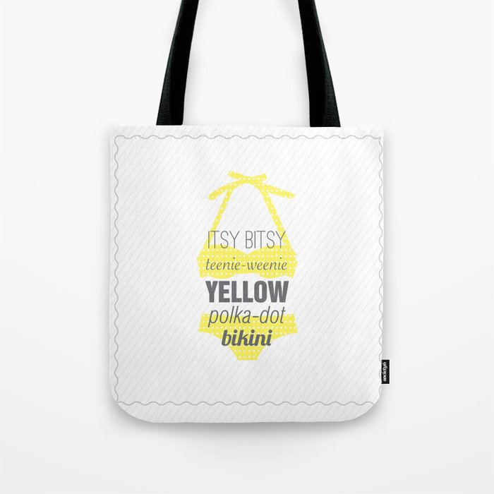 Yellow Polka Dot Bikini Tote Bag