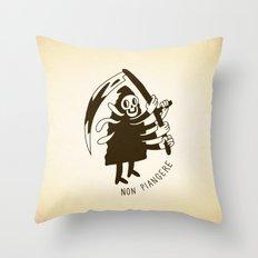 Non piangere Throw Pillow