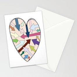 Which Way To Your Heart? Stationery Cards