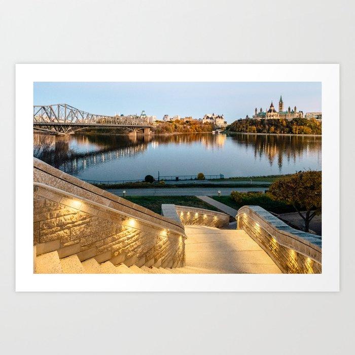 Sunset on Ottawa Art Print