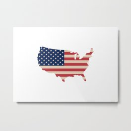 United States of America Map Metal Print