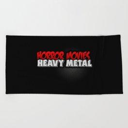 Horror Movies Heavy Metal Beach Towel