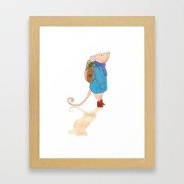 The travelling mouse Framed Art Print