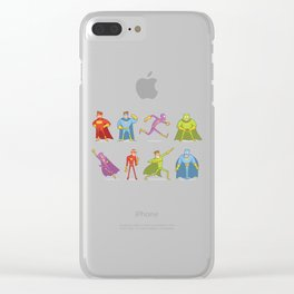 Funny Superheroes Clear iPhone Case