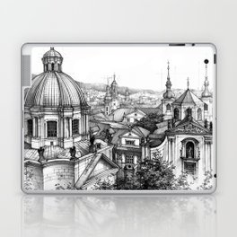 Prague over the rooftops Laptop & iPad Skin