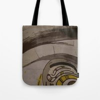 reassurance Tote Bags featuring Abstraction INC II by Magdalena Hristova