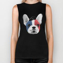 French Bulldog says bonjour - ALT Biker Tank