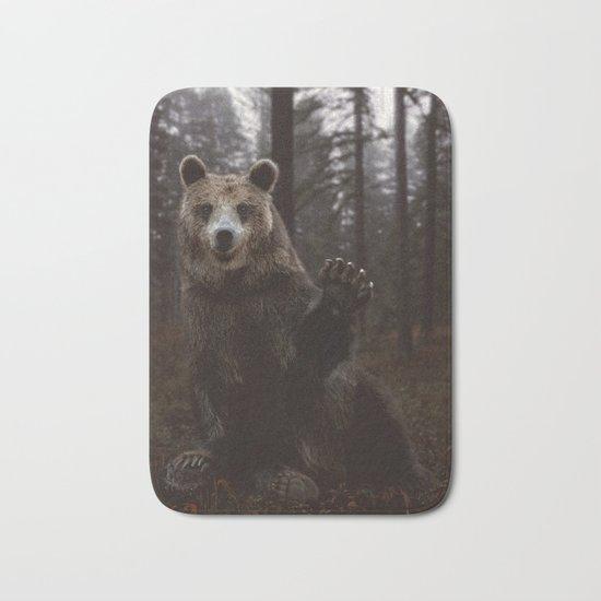 Bear Waving Hello Bath Mat