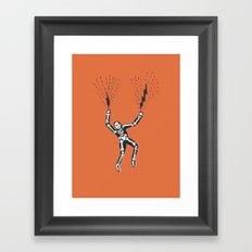 bolt hands Framed Art Print