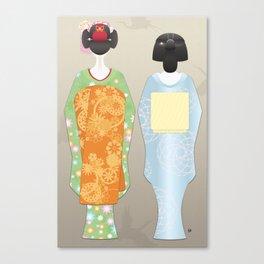 Geisha Maiko Spring Canvas Print