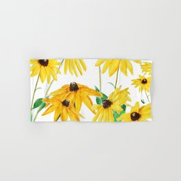 yellow sun choke flower Hand & Bath Towel