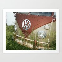 volkswagon Art Prints featuring VOLKSWAGON by Andrea Jean Clausen - andreajeanco