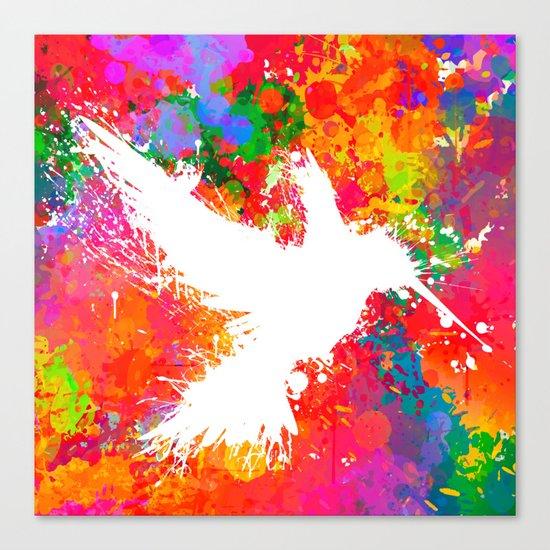 Hummingsplat - Colorless Canvas Print