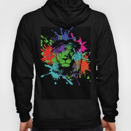 Lion Pop Art , African Lion Pop Art with colorful spots and splashes Hoody