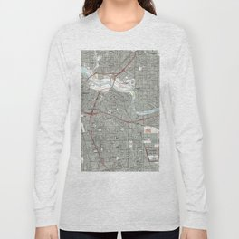 Sacramento California Map (1992) Long Sleeve T-shirt
