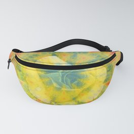 Mysterious rose in vibrant mandala Fanny Pack