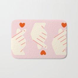 Korean Finger Heart Bath Mat