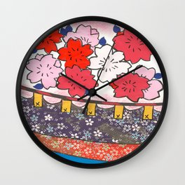 hanafuda sakura  Wall Clock
