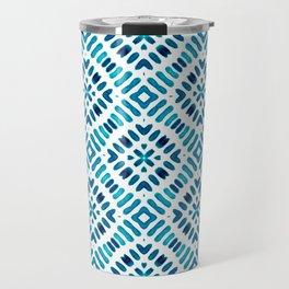 Shibori Watercolour no.7 Turquoise Travel Mug