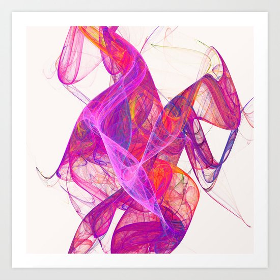 Pink smoke Art Print