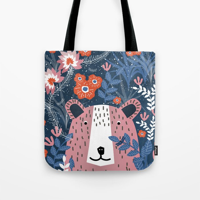 Bear Garden Tote Bag