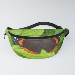 Red Admiral Butterfly Fanny Pack