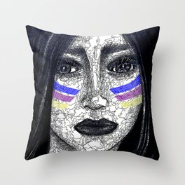 """""""Nevertheless, She Persisted"""" Throw Pillow"""