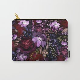 Deep Floral Chaos Carry-All Pouch