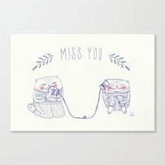miss u cat Canvas Print