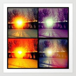 Four Sunsets Art Print