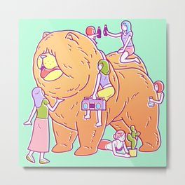 Giant Chow Chow Metal Print