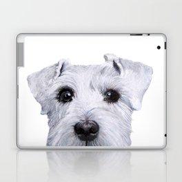 Schnauzer original Dog original painting print Laptop & iPad Skin
