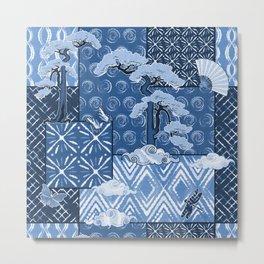 Shibori Quilt Metal Print
