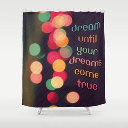 Vintage Colorful Christmas Bokeh Shower Curtain
