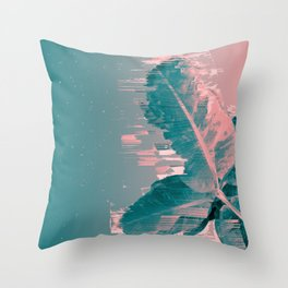 Banana Leaf Went Way Too Fast! Throw Pillow