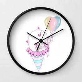 Kewpie Cotton Candy Clown Wall Clock