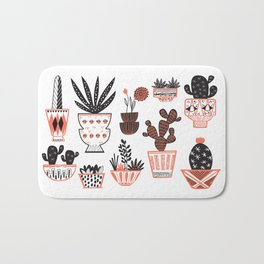 Mid-Century Modern Cacti Bath Mat