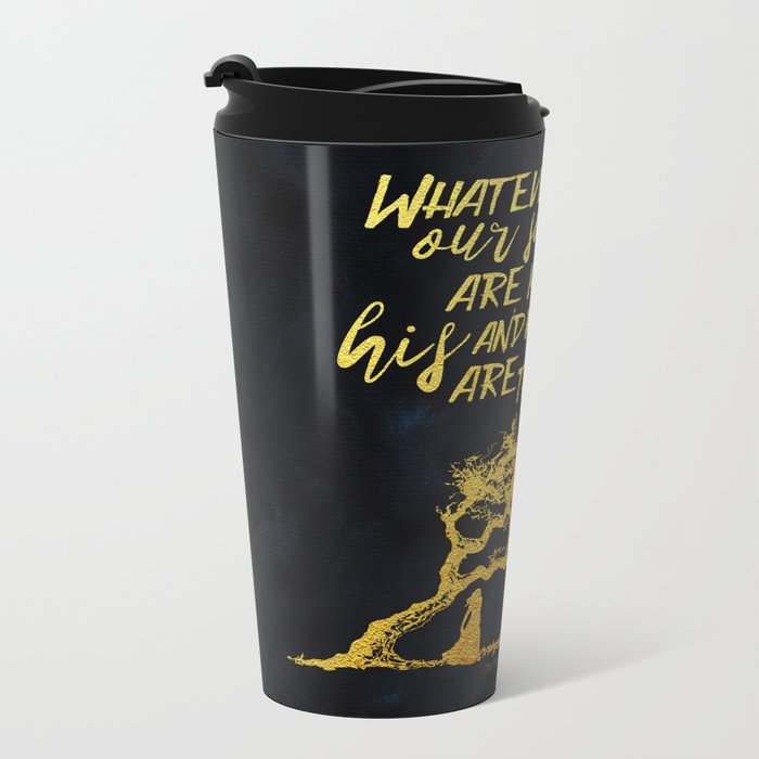 Wuthering Heights - Souls - Gold Foil Metal Travel Mug