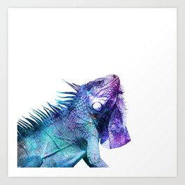 Galactic Iguana Art Print